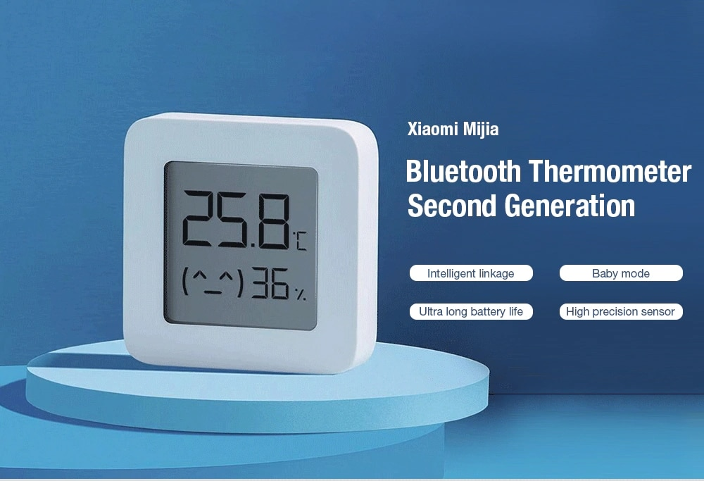[Newest Version] XIAOMI Mijia Bluetooth Thermometer 2 Wireless Smart Electric Digital Hygrometer Thermometer Work with Mijia APP (1)